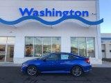 2019 Agean Blue Metallic Honda Civic EX Sedan #131027329