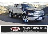 2012 Black Dodge Ram 1500 Laramie Crew Cab 4x4 #131027283