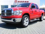2007 Flame Red Dodge Ram 1500 Thunder Road Quad Cab #13079752