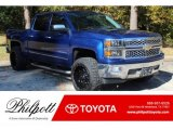2014 Blue Topaz Metallic Chevrolet Silverado 1500 LTZ Crew Cab #131048132