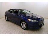 2013 Deep Impact Blue Metallic Ford Fusion SE #131048245