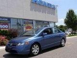 2007 Atomic Blue Metallic Honda Civic LX Sedan #13067268