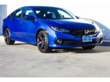 2019 Agean Blue Metallic Honda Civic Sport Sedan #131177595
