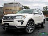 2019 White Platinum Ford Explorer Platinum 4WD #131203570