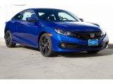 2019 Agean Blue Metallic Honda Civic Sport Coupe #131220607