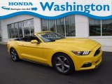 2016 Triple Yellow Tricoat Ford Mustang V6 Convertible #131244838
