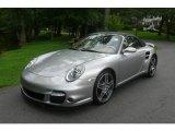 2008 GT Silver Metallic Porsche 911 Turbo Cabriolet #13071116