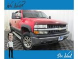 2000 Victory Red Chevrolet Silverado 1500 LT Extended Cab 4x4 #131317280