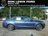 2018 Blue Metallic Ford Fusion Hybrid SE #131338161