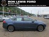 2018 Blue Metallic Ford Fusion SE #131338160