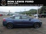 2018 Blue Metallic Ford Fusion SE #131338159