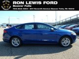 2018 Lightning Blue Ford Fusion SE #131338156