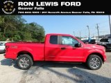 2018 Race Red Ford F150 STX SuperCab 4x4 #131338194