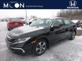 2019 Crystal Black Pearl Honda Civic LX Sedan #131370685
