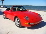 Guards Red Porsche 911 in 1995