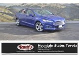 2015 Deep Impact Blue Metallic Ford Fusion SE #131370596
