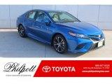 2019 Blue Streak Metallic Toyota Camry SE #131385337