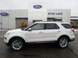 2019 White Platinum Ford Explorer Limited 4WD #131465359