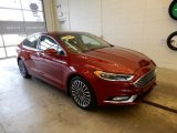 2017 Ruby Red Ford Fusion SE AWD #131514870