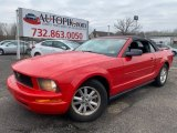 2007 Torch Red Ford Mustang V6 Deluxe Convertible #131532934