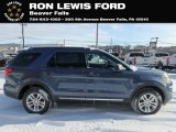2019 Blue Metallic Ford Explorer XLT 4WD #131555496