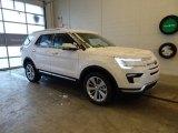 2019 White Platinum Ford Explorer Limited 4WD #131593653