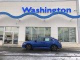 2019 Agean Blue Metallic Honda Civic EX Hatchback #131593636