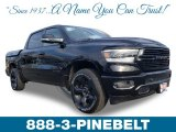 2019 Diamond Black Crystal Pearl Ram 1500 Big Horn Crew Cab 4x4 #131643428