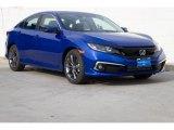 2019 Agean Blue Metallic Honda Civic EX Sedan #131706972