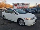 2007 Taffeta White Honda Civic Hybrid Sedan #131732263