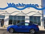2019 Agean Blue Metallic Honda Civic LX Sedan #131732213