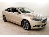 2017 White Gold Ford Fusion SE AWD #131807309