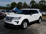 2019 Oxford White Ford Explorer XLT #131807339