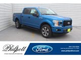 2019 Velocity Blue Ford F150 STX SuperCrew 4x4 #131820309