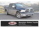 2012 Black Dodge Ram 1500 Laramie Crew Cab 4x4 #131869495