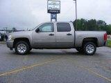 2008 Graystone Metallic Chevrolet Silverado 1500 LS Crew Cab #13176262