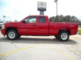 2009 Victory Red Chevrolet Silverado 1500 LS Extended Cab 4x4 #13176150
