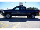 2009 Imperial Blue Metallic Chevrolet Silverado 1500 Extended Cab 4x4 #13176130