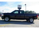 2009 Dark Cherry Red Metallic Chevrolet Silverado 1500 LS Extended Cab 4x4 #13176142