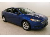 2018 Lightning Blue Ford Fusion SE #131964645