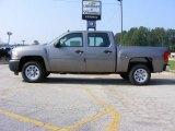 2009 Graystone Metallic Chevrolet Silverado 1500 Crew Cab #13176221