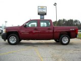2009 Deep Ruby Red Metallic Chevrolet Silverado 1500 Crew Cab 4x4 #13176170