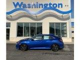 2019 Agean Blue Metallic Honda Civic EX Hatchback #131981273