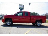 2009 Victory Red Chevrolet Silverado 1500 LS Extended Cab #13176152