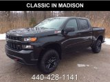 2019 Black Chevrolet Silverado 1500 Custom Z71 Trail Boss Crew Cab 4WD #131998287