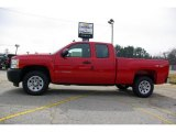 2009 Victory Red Chevrolet Silverado 1500 Extended Cab 4x4 #13176131