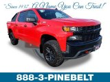 2019 Red Hot Chevrolet Silverado 1500 Custom Z71 Trail Boss Crew Cab 4WD #132012394
