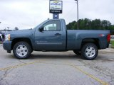 2009 Blue Granite Metallic Chevrolet Silverado 1500 LT Regular Cab 4x4 #13176199