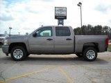 2009 Graystone Metallic Chevrolet Silverado 1500 LS Crew Cab #13176155