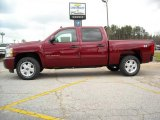 2009 Deep Ruby Red Metallic Chevrolet Silverado 1500 LT Z71 Crew Cab 4x4 #13176158